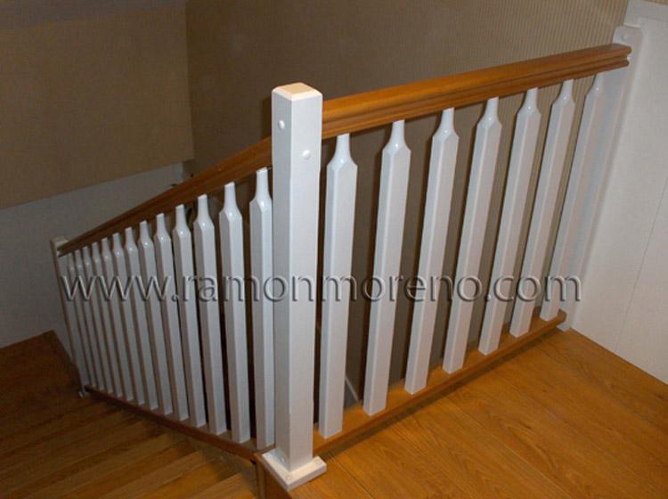Barandilla escalera madera madera y forja escalera de - Escaleras ramon moreno ...