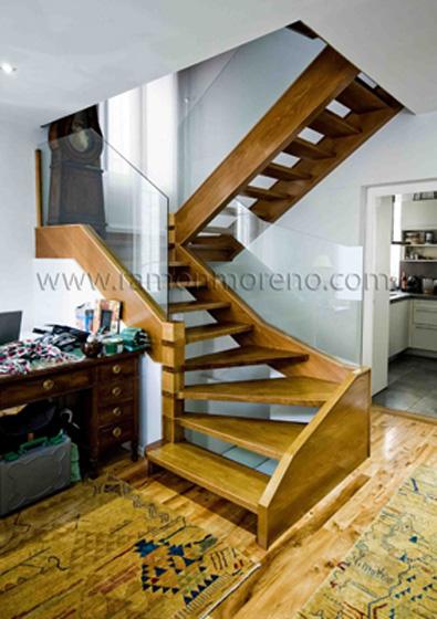 Escaleras madera, escaleras de madera, escaleras zancas de madera ...