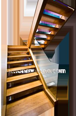 great escalera de madera y cristal with escaleras de madera y cristal